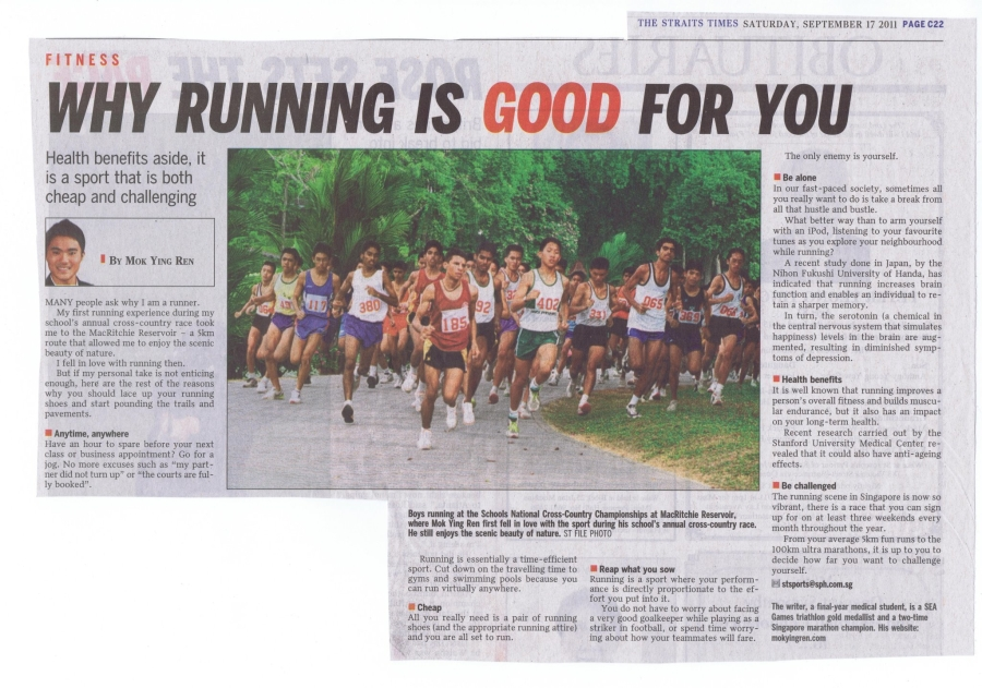 17:9 Why Running is good for you